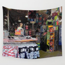 Store by the Sea Wall Tapestry