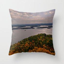 Squam Lake, 5-Finger Point Throw Pillow