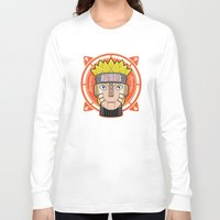 naruto Long Sleeve T-shirts featuring Mecha Naruto by Enrique Valles