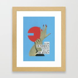 The men who looked at women Framed Art Print