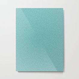 Dense Melange - White and Dark Cyan Metal Print