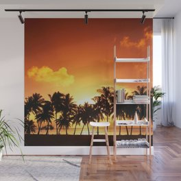 Sunset in Paradise II Wall Mural