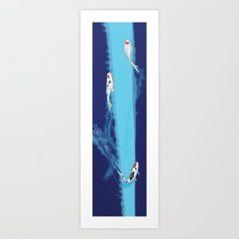 Speeding Koi Art Print