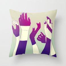 Crowd Throw Pillow