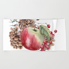Winter Composition Beach Towel