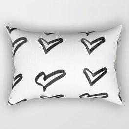 Black heart Rectangular Pillow