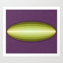 Dirigible Cucumber Art Print
