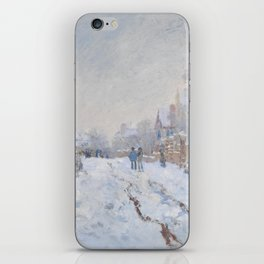 Snow Scene at Argenteuil by Claude Monet iPhone Skin