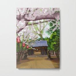 Cherry trees in Japan Metal Print