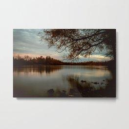 Subdued Sunset on the Sacramento River Metal Print