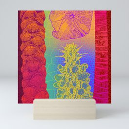 Yellow Cactus Tree Trunks Mini Art Print