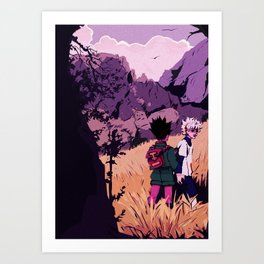 gon and killua Kunstdrucke