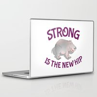 fitness Laptop & iPad Skins featuring Hippo Fitness by mailboxdisco