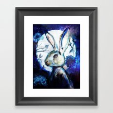 Moonlight Rabbit Framed Art Print