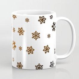 Snowflakes (Bronze and Black on White) Coffee Mug