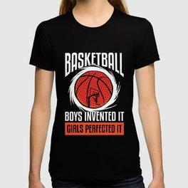 Basketball Girls perfected it coach sport T-shirt