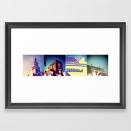 Deco Candy Panorama Framed Art Print