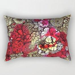 Yellow'n Red Flowers Rectangular Pillow