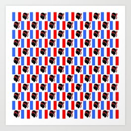 Mix of flag : France and Corsica 2 Art Print