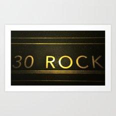 30 Rock Art Print