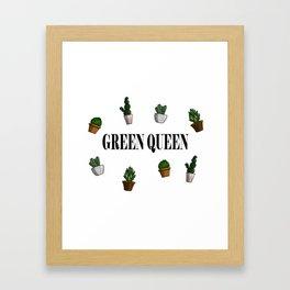 Green queen Framed Art Print