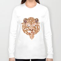 beauty and the beast Long Sleeve T-shirts featuring beast by Rebecca McGoran