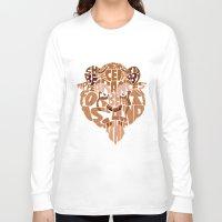 beast Long Sleeve T-shirts featuring beast by Rebecca McGoran