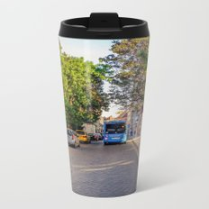 BUS IN BUDAPEST Metal Travel Mug