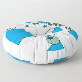 Luxuris in blue Floor Pillow