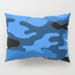 Blue Camouflage Pillow Sham