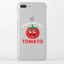 Power by Tomato Clear iPhone Case