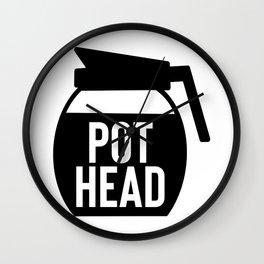 Coffee Pot Head Wall Clock