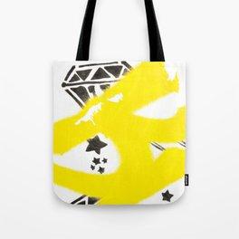 Diamonds And Stars - Urban Painting Tote Bag