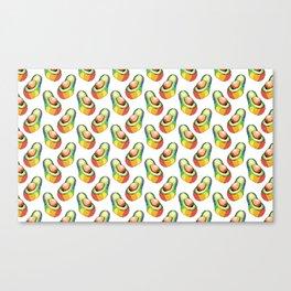 rainbow avocado pattern Canvas Print