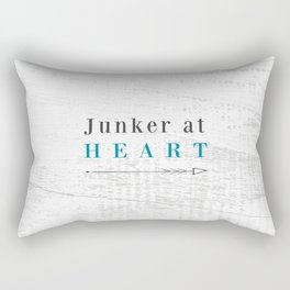 Junker at Heart Rectangular Pillow