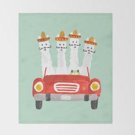 The four amigos Throw Blanket