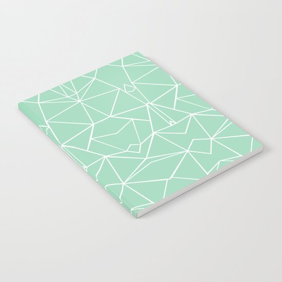 Abstract Mirror Mint Notebook