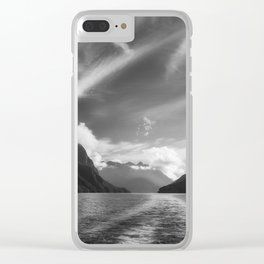 Dramatic clouds and alpine scenery at Lake Manapouri Clear iPhone Case