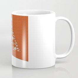 Christmas Tree Made Of Snowflakes On Orange Background Coffee Mug