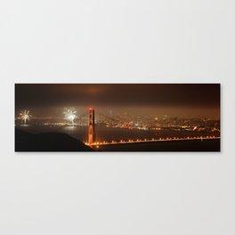 Fireworks over Golden Gate Bridge Canvas Print