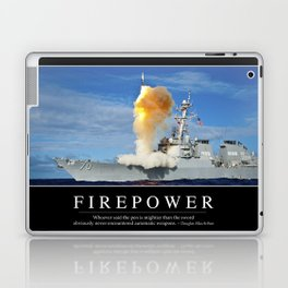 Firepower: Inspirational Quote and Motivational Poster Laptop & iPad Skin