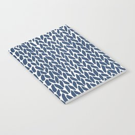 Hand Knit Zoom Navy Notebook