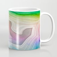 mineral Mugs featuring MINERAL RAINBOW by Catspaws