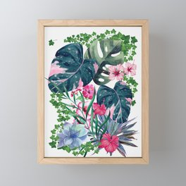 Tropical Plants Framed Mini Art Print