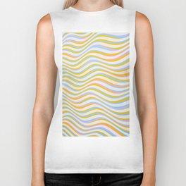 wave abstract art artistic Biker Tank
