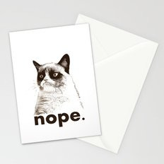 NOPE - Grumpy cat. Stationery Cards