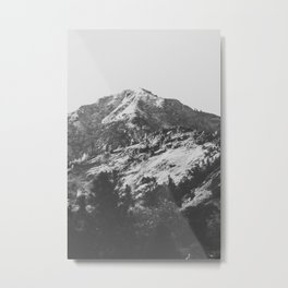 Sombre mountain Metal Print