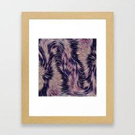 Warm fur texture Framed Art Print