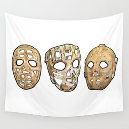 60s Masks Wall Tapestry