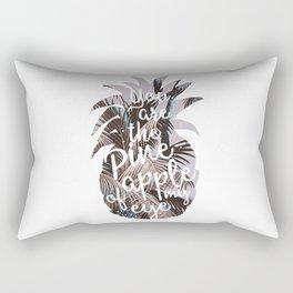 Pineapple quote n1 art print Rectangular Pillow